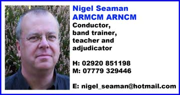 Nigel seaman conductor band trainer adjudicatorAd