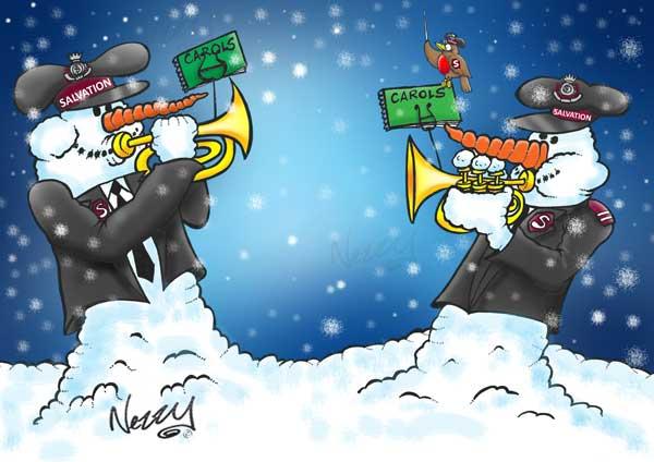 Salvation Army Snowmen