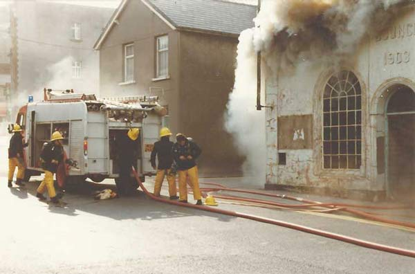Ebbw Vale Brass Band Room on Fire 1982