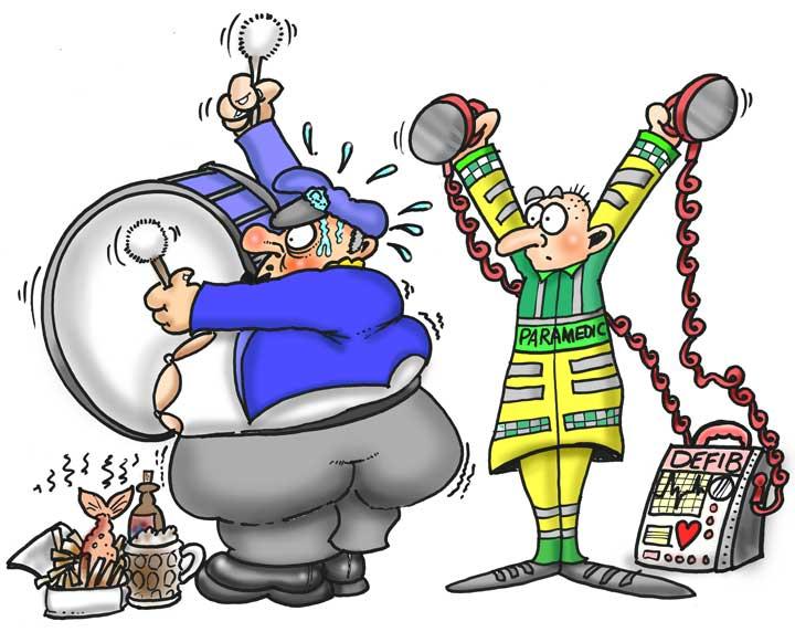 Defib brass band Cartoon by nezzy