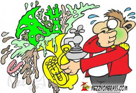 Give your instrument a good blast out now and then!