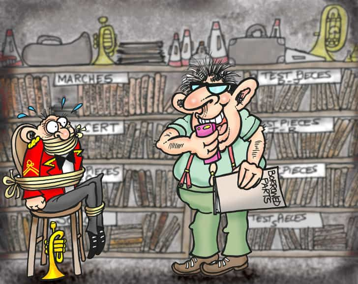 For the good of the band librarian by cartoonist nezzy