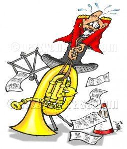 maintaining your brass instrument cartoon bass slide stuck nezzy