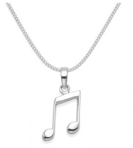 music note jewellery - quaver necklace