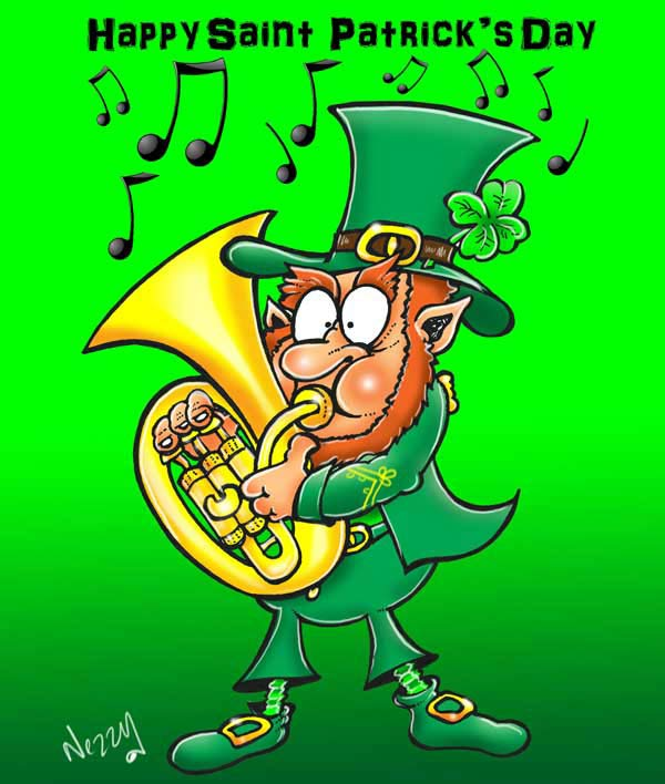 Leprechaun happy St Patricks day