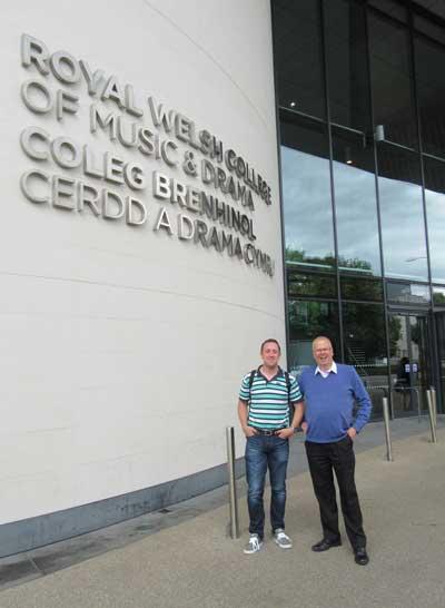 Owen Farr and Nigel Seaman Royal welsh college