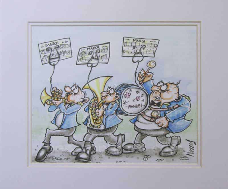 brass band cartoons by nezzy