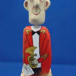 Nezzy Drifters - Horn Player in Red Uniform on Music Plinth