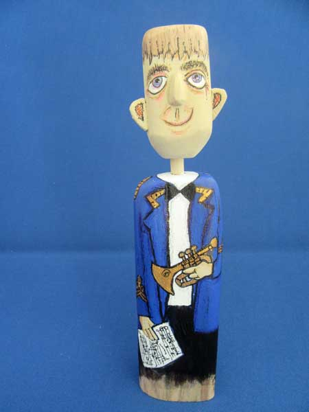 nezzy drifter driftwood cartoon figures blue brass band uniform