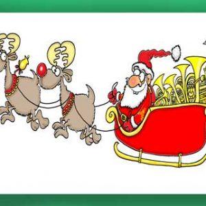 Christmas Card - Santa's Sleigh