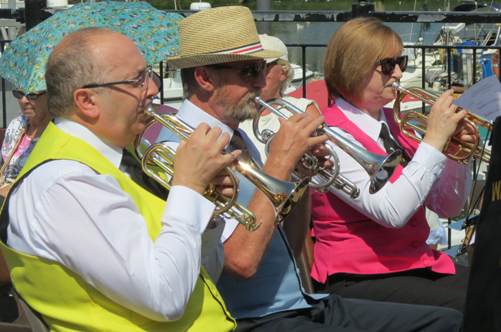 Wagebridge Town Band are this months featured band profile - possibly the most colourful banf in the UK!
