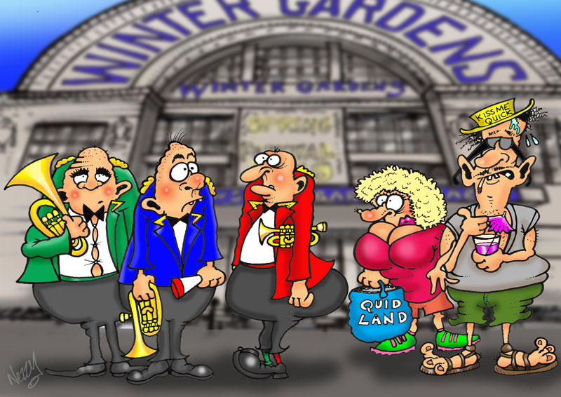 Blackpool spring festival BRASS BANDS CARTOON