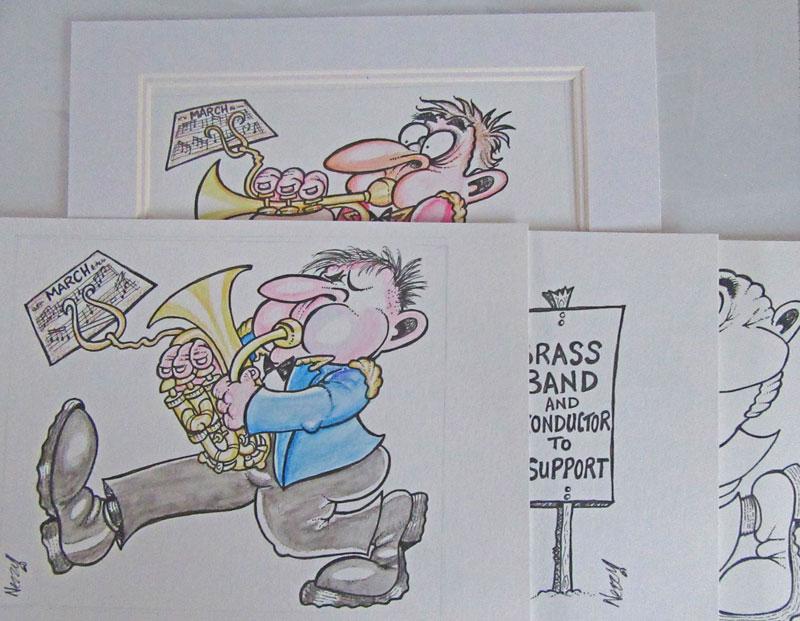 original nezzy cartoons brass band