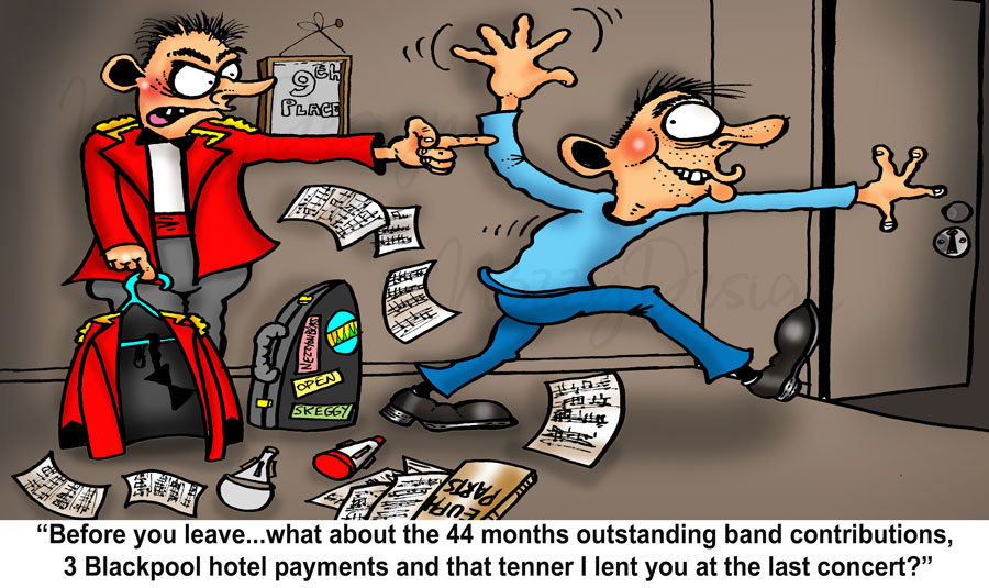 what to say when you leave brass band cartoon