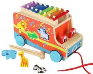 pull truck xylophones