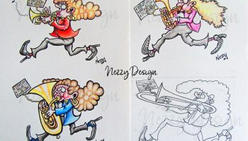 brass-band-lady-marching-cartoon--nezzy