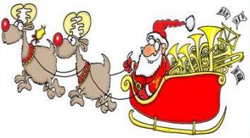 santas sleigh jingling bells