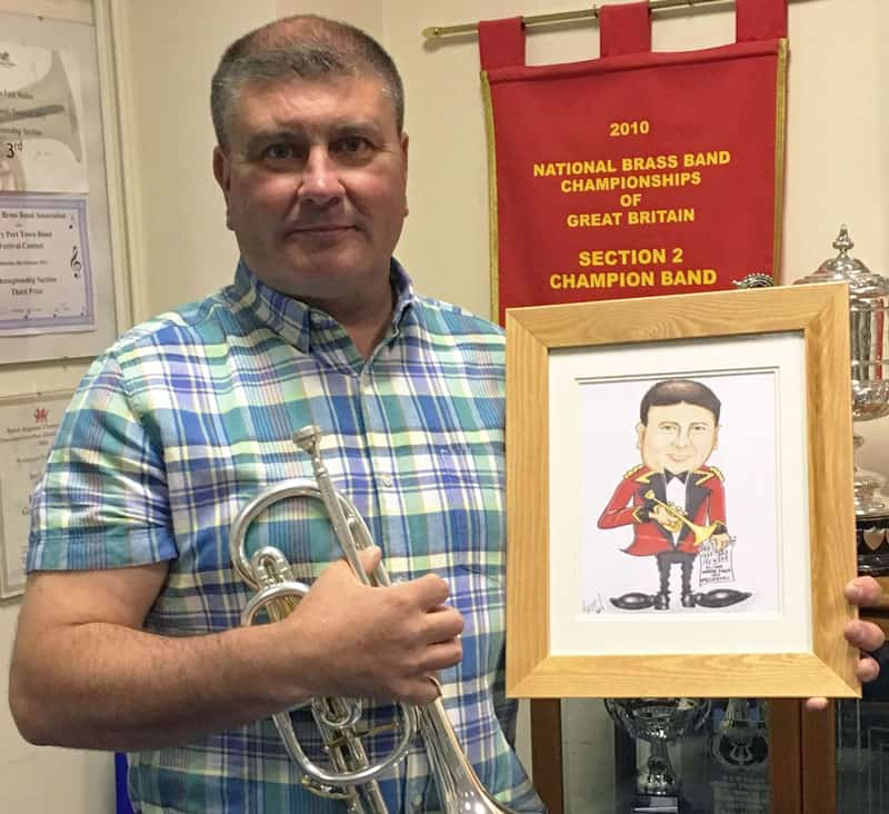 nezzy brass band caricatures