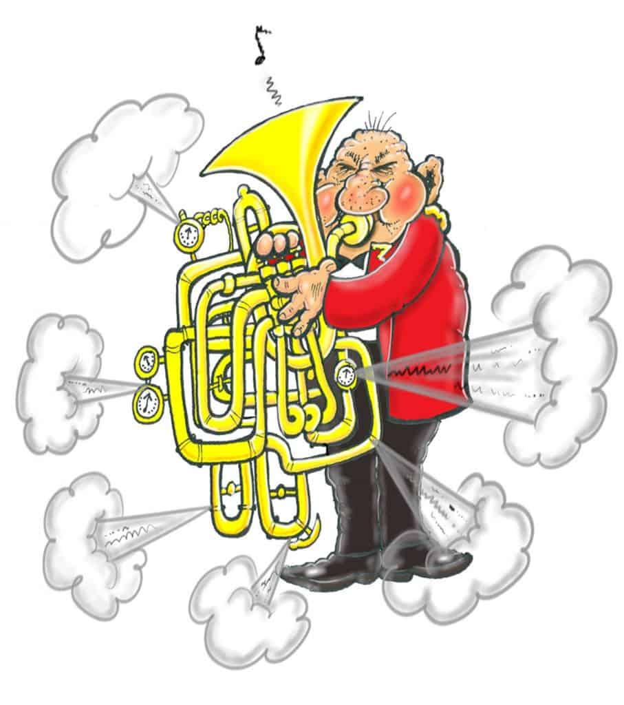 brass band mechanical freaks cartoon